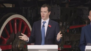 George Osborne announced plans to boost transport in the North of England in a speech at the National Railway Museum in York