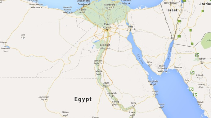 Missing Russian Passenger Jet Believed To Have Crashed In Egypt - Map of egypt google maps