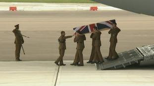 The repatriation at RAF Brize Norton