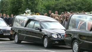Hearses among crowds in Brize Norton