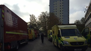 Fifty people rescued after fire in a tower block