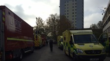 Emergency vehicles on the scene in north Kensington