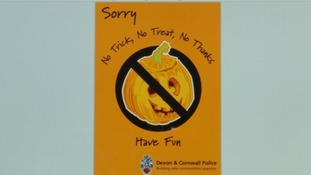 Police have issued posters for those who don't want to be bothered by trick-or-treaters