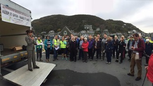 Barmouth protest