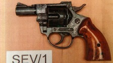 The converted Olympic Revolver found in Cheryl Greenfield's sofa