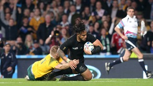 New Zealand's Ma'a Nonu scores his side's second try.
