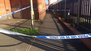 A police cordon is currently in place