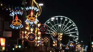 The Diwali lights in Leicester