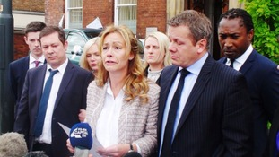 Neil Shepherd (front left) and Sharon Wood (centre)