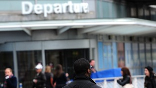 The man was stopped at Birmingham Airport with a stun gun