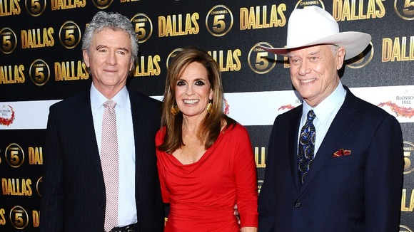 Patrick Duffy, Linda Gray and Larry Hagman