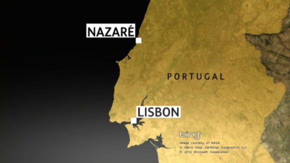 The incident happened around 60 miles north of Lisbon