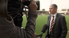 Jez George talks to the media today.