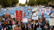 Thousands of junior doctors protested in October