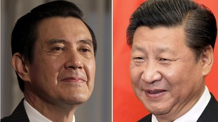 Taiwan President Ma Ying-jeou (left) will meet Chinese President Xi Jinping (right) on Saturday