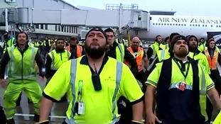 Haka welcome in New Zealand