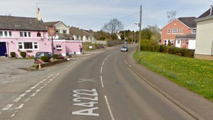 Police were called to the scene on Cowbridge Road in Ystradowen.