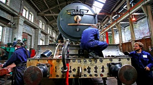 Restoration work on the Flying Scotsman is finishing before it goes back on display