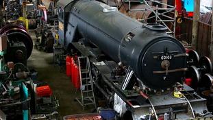Restoration work on the Flying Scotsman Steam is undertaken by Riley & Son Ltd in Bury, Greater Manchester.
