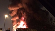 A building has been destroyed after a fire ripped through an industrial estate in Bracknell