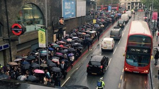 The rush-hour scrum to get into London Bridge station this morning