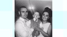 Jacob Jenkins with his Mum and Dad