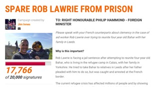 Almost 18,000 people have signed a petition to keep Mr Lawrie out of jail
