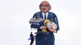 11-meter high effigy of Sepp Blatter