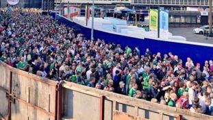 overcrowding outside millennium stadium