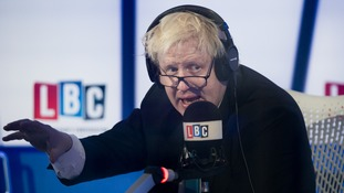 Boris Johnson on LBC this morning
