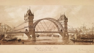Old plans for Tower Bridge