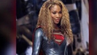 Serena Williams dressed as Superwoman