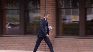 Chris Hughton appeared in court this morning charged with failing to disclose the name of the driver of his car