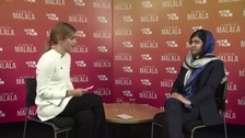 Actor Emma Watson talks feminism with Malala.