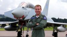 Sir Chris Hoy Typhoon jet RAF