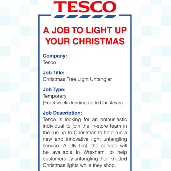 Are you bright enough for this job? Tesco advertises for a ...