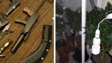 Weapons & cannabis plants seized by police in Exmouth
