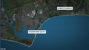 Map of Mudeford Quay