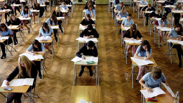 Students sit their GCSEs