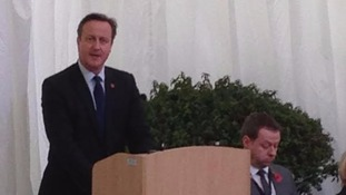 The Prime Minister addresses the audience.