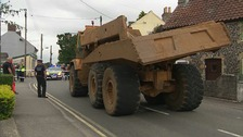 The dumper truck involved in the incident.