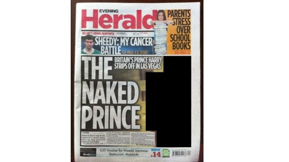 Prince Harry naked pictures The Evening Herald
