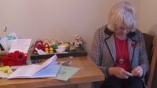 Zoiyar Cole has hand-knitted more than 1,600 poppies so far this year.