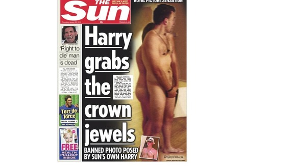 Thursday&#x27;s edition of The Sun newspaper
