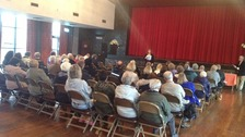 More than 100 people attended the meeting