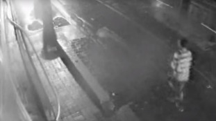 Police have released CCTV in which a man can be seen running down the street