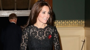 The Duchess of Cambridge arrives at the Royal Albert Hall.