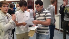 Students at Mildenhall College get their exam results