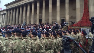 Pictures from remembrance Sunday