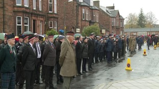 Hundreds turned out for memorial services in Dumfries